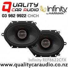 "Infinity REF8622CFX 6x8"" / 5x7"" 180W Max 2 Way Coaxial Car Speakers (Pair) with Easy Layby"