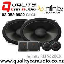 "Infinity REF9620CX 6x9"" 375W (125W RMS) 2 Way Car Component Speakers (Pair) with Easy LayBy"