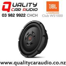 "JBL CLUB WS1000 10"" 800W (200W RMS) Switchable Impedance Shallow-mount Car Subwoofer with Easy Finance"