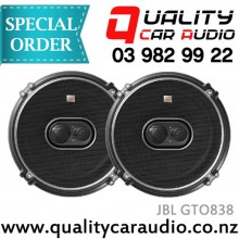 "JBL GTO838 8"" (20cm) 300W 3 Ways Coaxial Car Speakers (Pair) with Easy Layby"