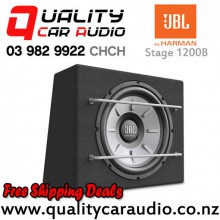 "JBL STAGE 1200B 12"" 1000W (250W RMS) 4 ohm Voice Coil Car Subwoofer Enclosure with Easy Finance"