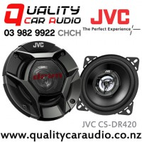 "JVC CS-DR420 4"" (10cm) 220W 2 Ways Coaxial Car Speakers (Pair) with Easy LayBy"