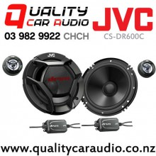 "JVC CS-DR600C 6.5"" 300W (60W RMS) 2 Ways Car Component Speakers (Pair) with Easy Finance"