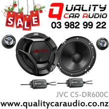 """JVC CS-DR600C 6.5"""" (165cm) 300W 2 Ways Car Component Speakers (Pair) with Easy Layby"""