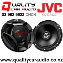 """JVC CS-DR620 6"""" / 6.5"""" 300W (50W RMS) 2 Ways Coaxial Car Speakers (Pair) with Easy Finance"""