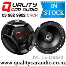 "JVC CS-DR620 6"" / 6.5"" 300W (50W RMS) 2 Ways Coaxial Car Speakers (Pair) with Easy Layby"