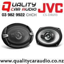 "JVC CS-DR693 6x9"" 500W (70W RMS) 3 Way Coaxial Car Speakers (pair) with Easy Finance"