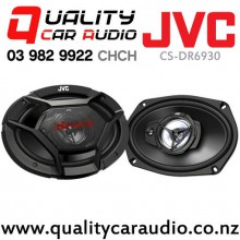 """JVC CS-DR6930 6x9"""" 500W (70W RMS) 3 Ways Coaxial Car Speakers (Pair) with Easy LayBy"""