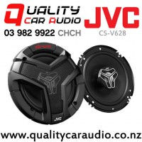 """JVC CS-V628 6.5"""" 250W (40W RMS) 2 Way Coaxial Car Speakers (pair) with Easy Finance"""