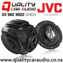 "JVC CS-ZX630 6.5"" 300W 3 Ways Coaxial Car Speakers (Pair) with Easy LayBy"