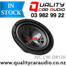 "JVC CW-DR120 12"" 1800W Single Voice Coil Car Subwoofer with Easy Layby"