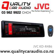 JVC KD-R486 CD USB AUX MP3 Android NZ Tuners 1x Pre Out with Easy Lay