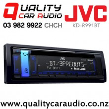 JVC KD-R991BT Bluetooth iPod USB CD Spotify NZ Tuners 3x Pre Outs Car Stereo with Easy Finance