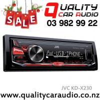 JVC KD-X230 USB AUX Pandora NZ Tuners 1x Pre Out Car Stereo with Easy Layby