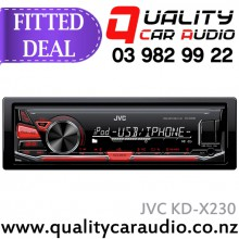 JVC KD-X230 USB AUX iPod NZ Tuner Car Stereo with Easy LayBy