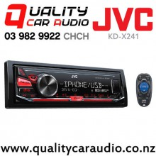 JVC KD-X241 USB AUX Apple/Android NZ Tuners 1x Pre Out Car Stereo with Easy Layby