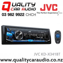 JVC KD-X341BT Bluetooth USB AUX IN Apple/Android NZ Tuners 2x Pre Outs