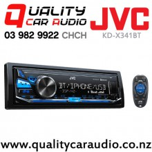 JVC KD-X341BT Bluetooth USB AUX IN Apple/Android NZ Tuners 2x Pre Outs with Easy Finance