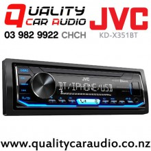 JVC KD-X351BT Bluetooth USB AUX IN Apple/Android NZ Tuners 2x Pre Outs with Easy Finance