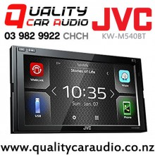 "JVC KW-M540BT 6.8"" Dual Bluetooth USB AUX Spotify Nav-app NZ Tuners 3x Pre Outs Car Stereo with Easy Finance"