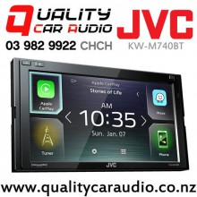JVC KW-M740BT Apple Car Play & Android Auto Dual Bluetooth USB AUX NZ Tuners 3x Pre Outs Car Stereo with Easy Finance