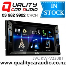"JVC KW-V230BT 6.2"""" Bluetooth DVD USB AUX NZ Tuners 3x Pre Outs with Easy LayBy"