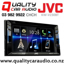 "JVC KW-V230BT 6.2"" Bluetooth DVD USB AUX NZ Tuners 3x Pre Outs with Easy Finance"