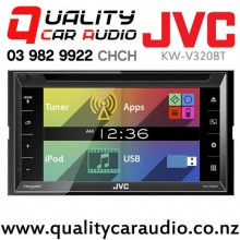 "JVC KW-V320BT 6.8"" Bluetooth DVD CD USB Iphone AUX NZ Tuners 3x Pre Outs with Easy LayBy"