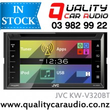 """JVC KW-V320BT 6.8"""" Bluetooth DVD CD USB Iphone AUX NZ Tuners 3x Pre Outs with Easy LayBy"""