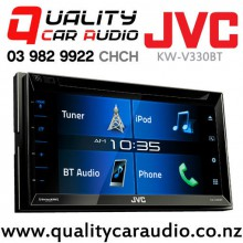 "JVC KW-V330BT 6.2"" Bluetooth DVD CD USB Iphone AUX NZ Tuners 3x Pre Outs with Easy LayBy"