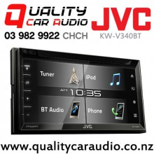 "JVC KW-V340BT 6.2"" Dual Bluetooth DVD USB AUX Spotify NZ Tuners 3x Pre Outs Car Stereo with Easy Finance"