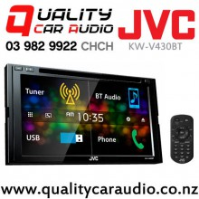 "JVC KW-V430BT 6.8"" Bluetooth DVD CD USB Iphone AUX NZ Tuners 3x Pre Outs with Easy LayBy"