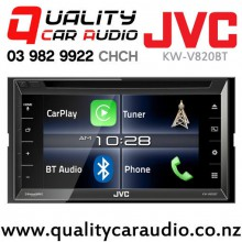 "JVC KW-V820BT 6.8"" Apple Car Play Bluetooth DVD USB AUX NZ Tuners 3x Pre Outs Car Stereo with Easy Layby"