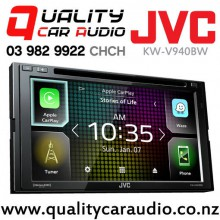 "JVC KW-V940BW 6.8"" Apple Car Play & Android Auto Mirroring Dual Bluetooth DVD CD USB AUX NZ Tuners 3x Pre Outs Car Stereo with Easy Finance"