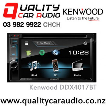 """Kenwood DDX4017BT 6.2"""" Bluetooth (2x Phone Full Time Connection) DVD CD USB AUX Android 3x Preouts Car Stereo with Easy Finance"""