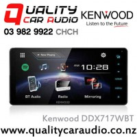 "Kenwood DDX717WBT 200mm Panel 7"" Bluetooth (2 Phone Full Time Connection) DVD CD USB Android Support 3x Preouts Mirrow Link Car Stereo with Easy LayBy"