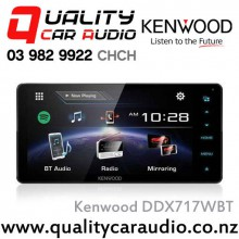 """Kenwood DDX717WBT 200mm Panel 7"""" Bluetooth (2 Phone Full Time Connection) DVD CD USB Android Support 3x Preouts Mirror Link Car Stereo with Easy LayBy"""