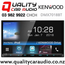"Kenwood DMX7018BT 7"" Dual Bluetooth Waze Nav App USB AUX Android Support 3x Preouts Car Stereo with Easy Finance"