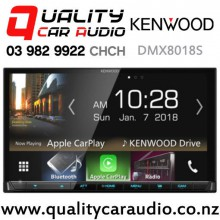 Kenwood DMX8018S Dual Bluetooth Apple CarPlay & Android Auto NZ Tuners 3x Pre Outs Car Stereo with Easy Finance