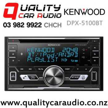 Kenwood DPX-5100BT Dual Bluetooth USB CD AUX NZ Tuner 3x Pre Outs Car Stereo with Easy Finance