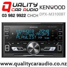 Kenwood DPX-M3100BT Dual Bluetooth USB AUX NZ Tuners 2x Pre Outs Car Stereo with Easy Finance