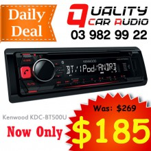Kenwood KDC-BT500U Bluetooth CD MP3 USB AUX NZ Tuners 1x Pre Out Car Stereo with Easy Layby