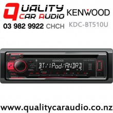 Kenwood KDC-BT510U Bluetooth (2x Phone Full time Connection) CD USB AUX Smart Phone Support 1x Preouts Car Stereo with Easy LayBy