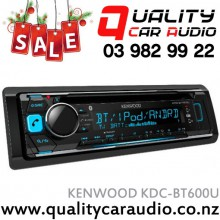 Kenwood KDC-BT600U Bluetooth (2 Phones Full Time) CD USB AUX iPod NZ Tuners 3x Pre Outs with Easy Layby