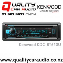 Kenwood KDC-BT610U Bluetooth (2x Phone Full Time Connection) CD USB AUX IPOD iPhone 3x Preouts Car Stereo with Easy LayBy