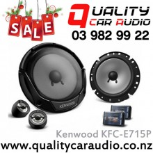 "Kenwood KFC-E715P 6.75"" 300W 2 Ways Car Component Speakers (Pair) with Easy Layby"