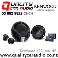 "Kenwood KFC-M614P 6"" / 6.5"" (16cm) 300W 2 Ways Component Car Speakers (Pair) with Easy Layby"