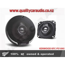 "Kenwood KFC-PS1095 4"" (10cm) 220W 3 Ways Coaxial Car Speakers (Pair) with Easy Layby"