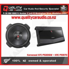 Kenwood KFC-PS3016W + KAC-PS917D Package - Easy LayBy