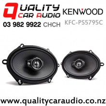 "Kenwood KFC-PS5795C 5x7"" / 6x8"" 320W (80W RMS) 3 Ways Coaxial Car Speakers (Pair) with Easy Finance"
